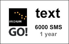 Iridium GO! 6000 SMS, 1 year Prepaid Airtime Voucher