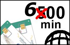 Iridium 600-min Global Prepaid Plan - SIM-card