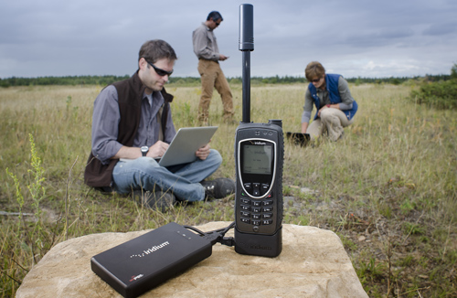 Iridium AxcessPoint Wi-Fi Hotspot in the field