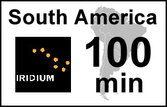 Iridium South America 100-min Voucher