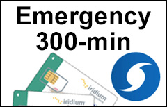 Iridium Emergency 300-min Plan SIM-card