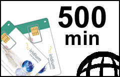 Iridium 500-min Global Prepaid Plan - SIM-card