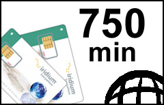 Iridium 750-min Global Plan - SIM-card